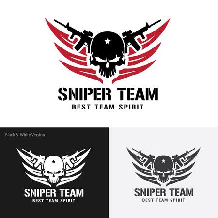 Siper 팀 로고, 전사, 해골 로고, 문신, 벡터 로고 템플릿