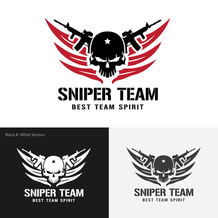 Siper Team Logo,warrior,Skull logo,tattoo vector,vector logo template