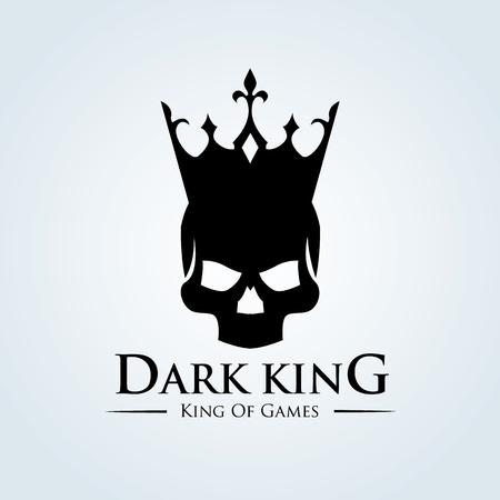 dark Skull logo,tattoo vector,vector logo template 일러스트