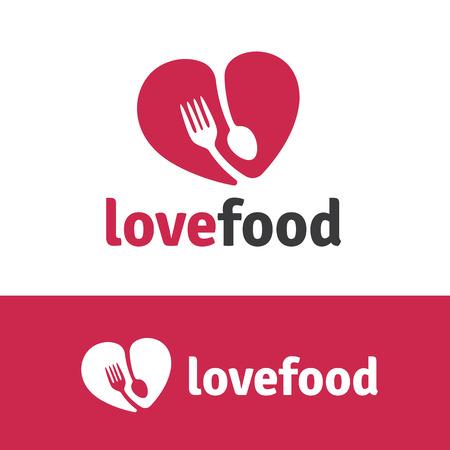Love food,Food , Template. Ilustração
