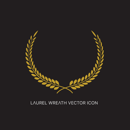 awarded: Vector gold award laurel wreath. Illustration