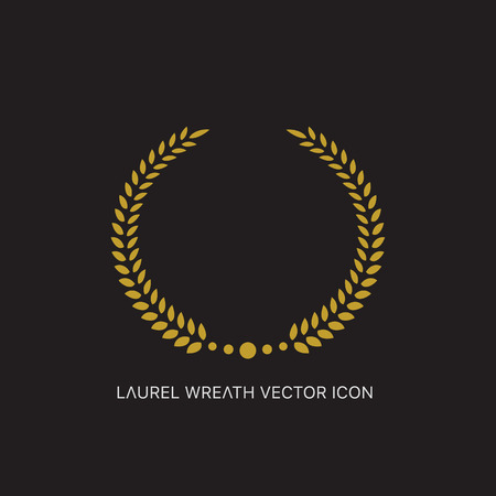 nomination: Vector gold award laurel wreath. Illustration