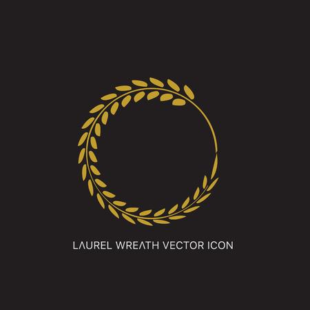 Vector gold award laurel wreath. Ilustração