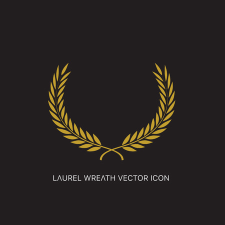 Vector gold award laurel wreath. Illustration
