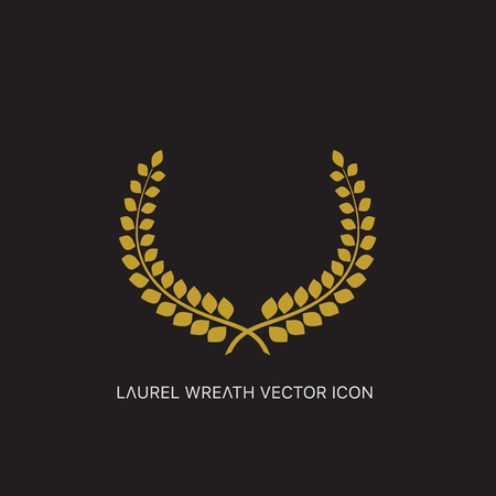 nomination: Vector gold award laurel wreath. Illustration