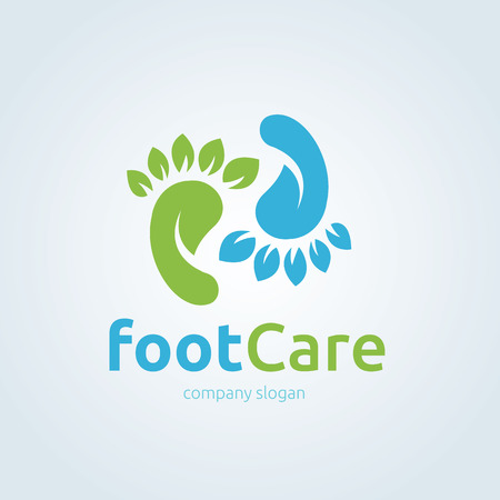 foot spa: Foot care ,foot spa ,foot symbol ,foot icon,vector template Illustration