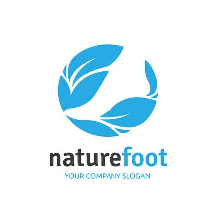 foot care: Foot care ,foot spa ,foot symbol ,foot icon,vector template Illustration
