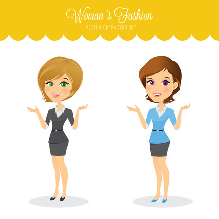 eyepiece: Womans fashion. women character set,business girls,girls,full vector and easy to edit.