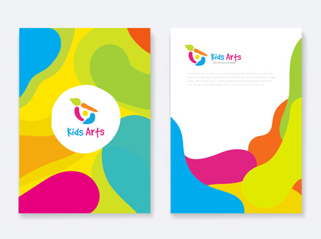 Business Book Cover Design Template in A4.