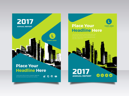 advert: Business Book Cover Design Template in A4.