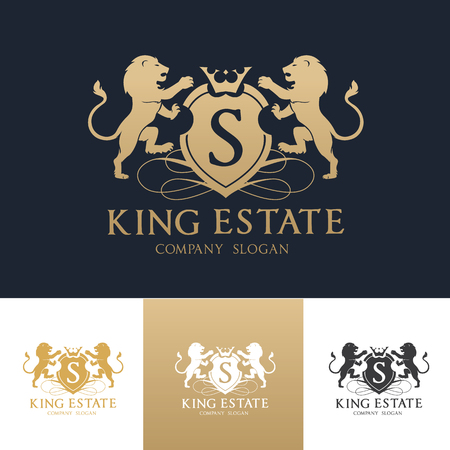 Logo immobilier King Banque d'images - 65974698
