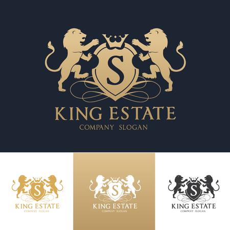 King estate logo Vectores