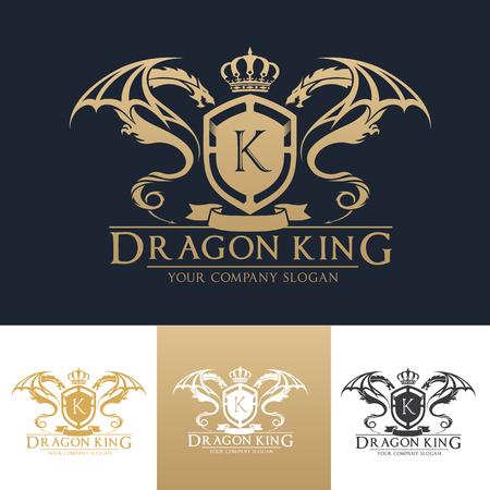 luksusowe logo szablonu.