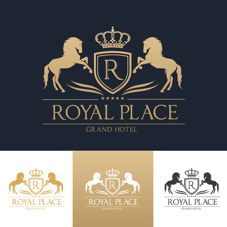 luxury logo,boutique brand,real estate,property,royalty,crown logo,crest logo,Vector Logo Template. Imagens - 65975305