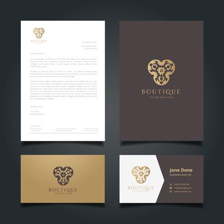 Logotipo de lujo, logotipo del hotel, marca Royal, boutique y spa logotipo, diseño del logotipo y la plantilla de identidad corporativa.
