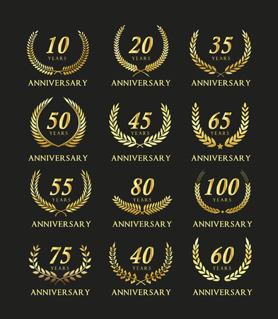 commemoration: Anniversary label collection.