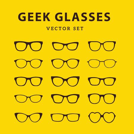 Geek Glasses,Glasses model icons,Sunglasses, eyeglasses,full vector