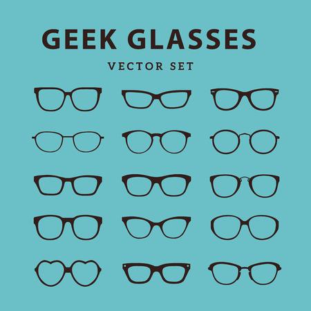 cat's eye glasses: Geek Glasses,Glasses model icons,Sunglasses, eyeglasses,full vector