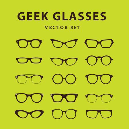 nerdy: Geek Glasses,Glasses model icons,Sunglasses, eyeglasses,full vector