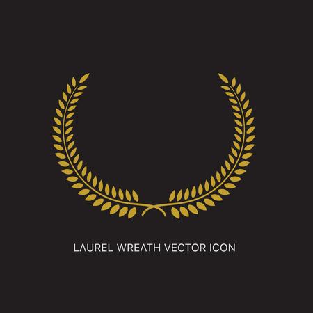 Crest logo element set,Set of award laurel wreaths and branches,vector illustration. Illustration