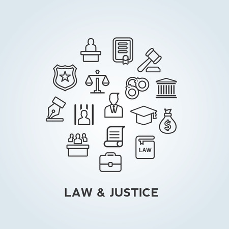 good judgment: Law and Justice icons