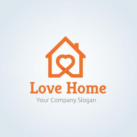Love Home Logo, logo home Archivio Fotografico - 66463676