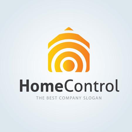 light house: Home Control logo, house logo Illustration