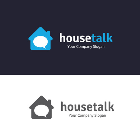 house logo: House talk logo, Home Care logo, love home logo , love logo Illustration