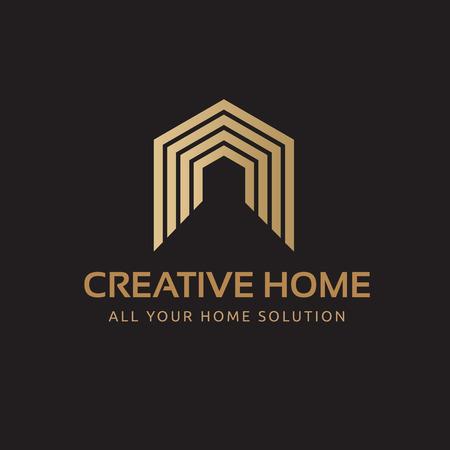 Creative Home logo, building logo, real estate logo 矢量图像