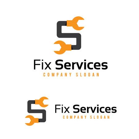 Fix services logo, tools logo, home services logo Illustration