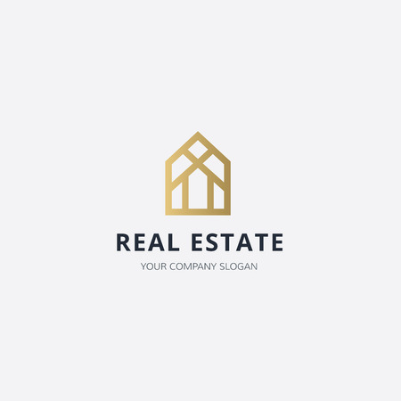 housing estate: Real estate logo