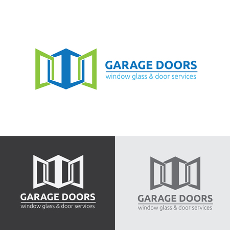 Garage door logo, doors logo, garage services logo 矢量图像