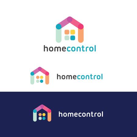 house logo: Home Control logo, house technology logo