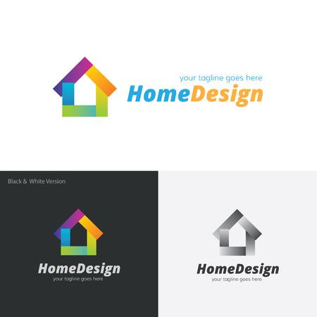 house logo: Home design logo, house painting logo Illustration