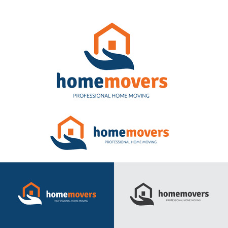 movers: Real estate logo, Home movers logo, house care services logo