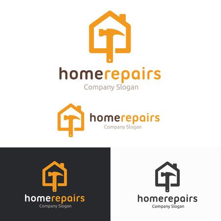 家の修理のロゴ