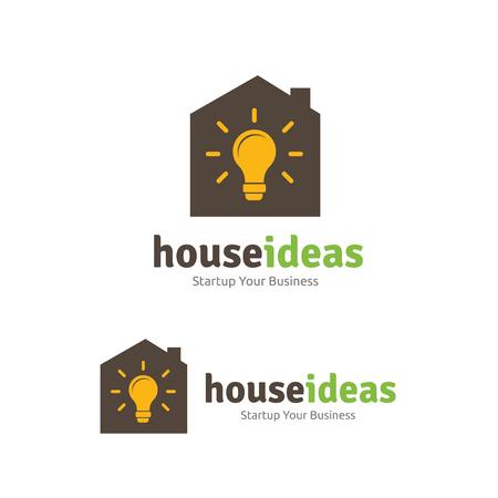 house logo: House ideas logo template.