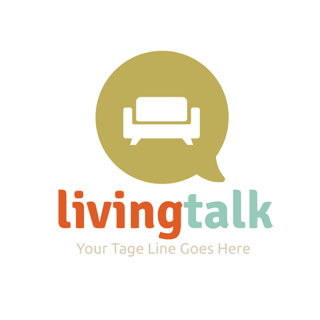 furniture design: Living talk logo Template Illustration
