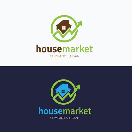 house logo: House market logo Illustration