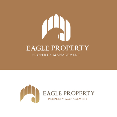 renter: Eagle real estate logo template