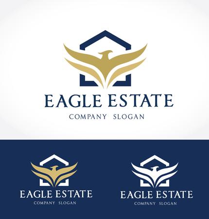 Eagle real estate logo template
