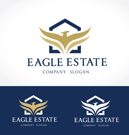 housing estate: Eagle real estate logo template