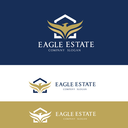 Eagle Real estate logo Ilustracja
