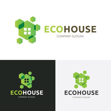 house logo: Eco house logo template. Illustration