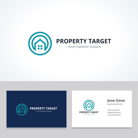 house logo: Property target logo,Real estate logo, home logo, house logo