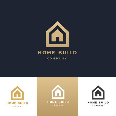 Home build logo template Illustration