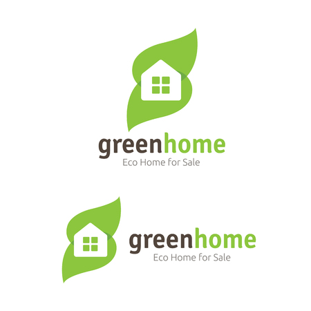 homeowner: Green home logo template Illustration