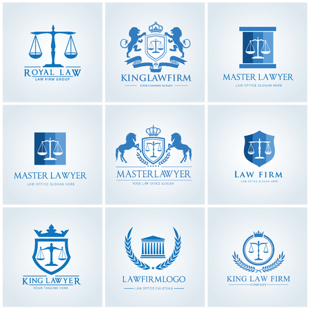 Law firm logo set Иллюстрация