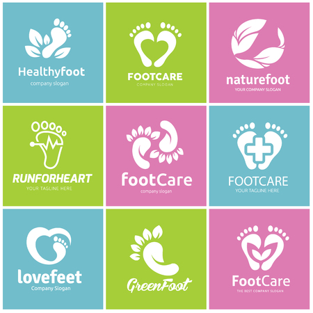 Foot care logo set Stok Fotoğraf - 81168628