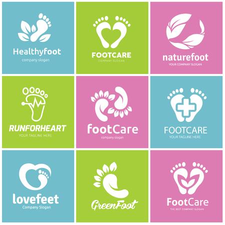 Foot care logo set